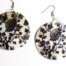 "2"" Art Deco Pattern Dangle Shell Earrings EA152"