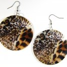 "2"" Animal Print Dangle Shell Earrings EA145"