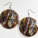 "2"" Animal Print Dangle Shell Earrings EA147"
