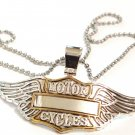 "3"" Bikers Motorcycle Wings Motorcycles Stainless Steel Chain Pendant NP163"