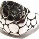 925 Sterling Silver Chunky Designer Style Cobble Texture Ring WR103 Sz 6, 7
