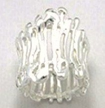 Stunning Abstract Chunky 925 Sterling Silver Ring WR114 Sz 5.5