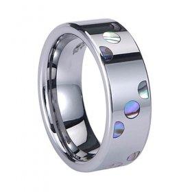 Abalone Shell Inlay Tungsten Carbide Ring TU6000 Sz 4,5,12,13,14