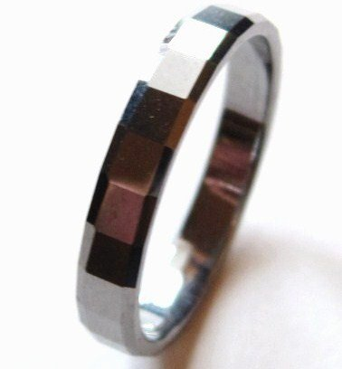 High Polish Tungsten Carbide Band Ring TU3049