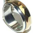 Tungsten Carbide Gold Spinning Rotating Ring TU3000