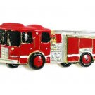 Unique Firefighter Fire Engine Truck Red Enamel Brooch Pin BP04
