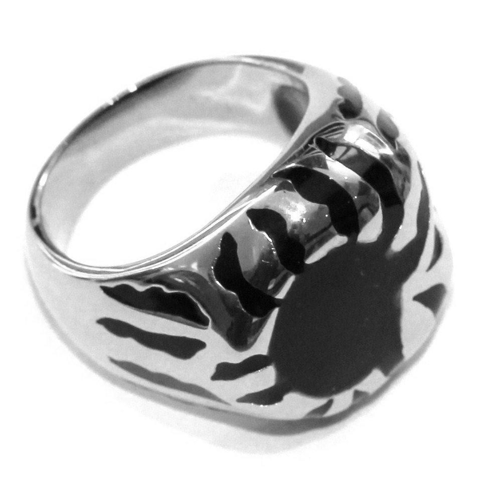 Unisex Chunky Black Casting Stainless Steel Ring SSR1977