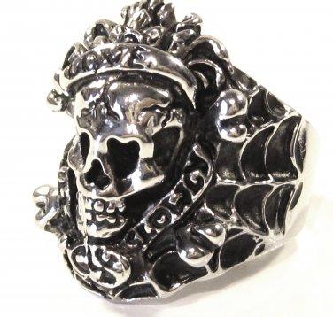 Love Kills Slowly Skull Stainless Steel Ring SSR7000