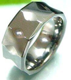 Unisex High Polish Multi Faceted Tungsten Carbide Ring TU3103