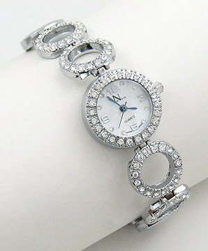 CZ Pave Circle Link Fashion Watch WW104