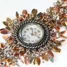 Multi-Tone Metal Chips Chain Link Fashion Watch WW110
