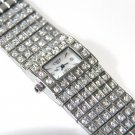 CZ Paved Rectangular Face Fashion Watch WW106