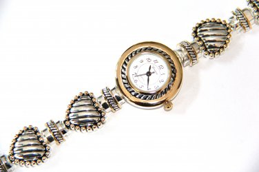 Twisted Cable Heart Bracelet Fashion Watch WW109
