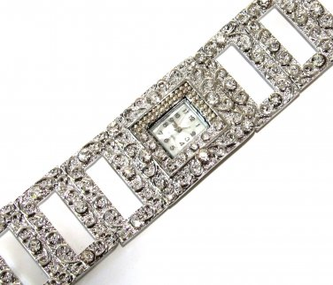 Iced Out CZ Textured Women's Toggle Fashion Watch WW117