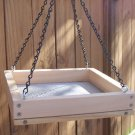 Cedar Hanging Platform Bird Feeder w-Chains - Medium