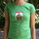 Grass Green Distressed Vintage Tee Buddha Yoga