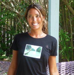 Phi Phi Islands Black Organic Bamboo Tee Soft Travel Photo Small