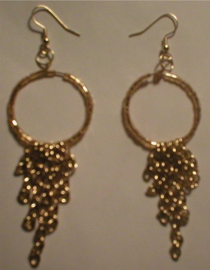 5 Strand Chain Dangle Earrings