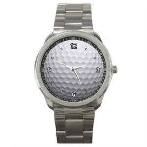 STYLISH UNISEX SPORTS WATCH GOLF BALL  / GOLFING