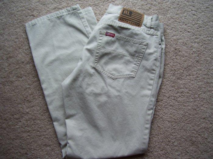 Womens Ralph Lauren Khaki Jeans
