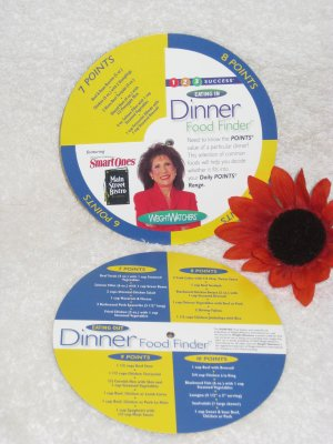 Weight Watchers 1,2,3 Success Dinner Food Finder Wheel