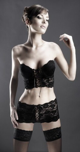 Black Strapless, lace cami top