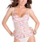 Floral lace underwire camisole