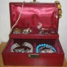 60's - 70's MELE Jewelry Organizer in Burgundy, Small