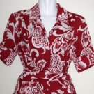 Late 80's CHADWICKS OF BOSTON Red and White Button-Down Shirt Dress with Matching Baby Romper