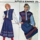 Vintage Butterick Sewing Pattern 4725 - Suttles & Seawinds Quilted Vest & Skirt - UNCUT