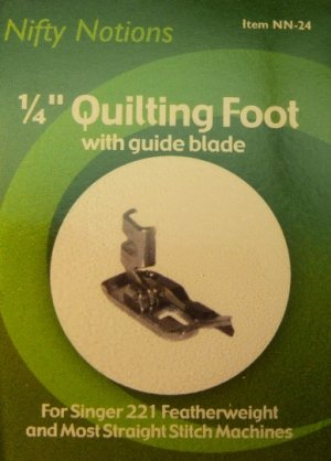 1/4 Inch Metal Quilt Piecing Foot for Singer Featherweight and Other Low Shank Machines - NN24