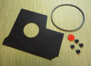 Tune-up Kit for Singer Featherweight 221 - Drip Pad, Belt, Bed Cushions