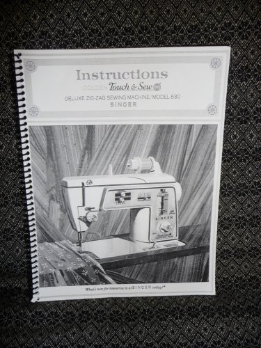 Singer 630 Instruction Manual - Reproduction, Spiral-Bound