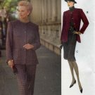 Vogue Pattern 8791; Jacket, Slim Skirt, Slacks Sizes 8-10-12 - UNCUT