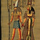 Horus and Nefertari Egyptian Papyrus