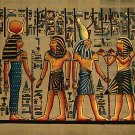 Horemheb Presents Liquids To Horus And Hathor