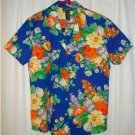 RALPH LAUREN FLORAL PRINT SHIRT--SIZE MEDIUM