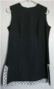 VINTAGE 60'S BLACK MOD TUNIC W/ METALLIC TRIM