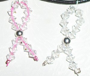 Beaded Cancer Awareness Charm