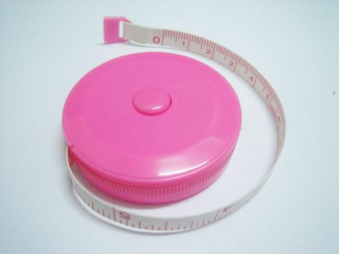 "150cm or 60"" Retractable Sewing Tape Pink"