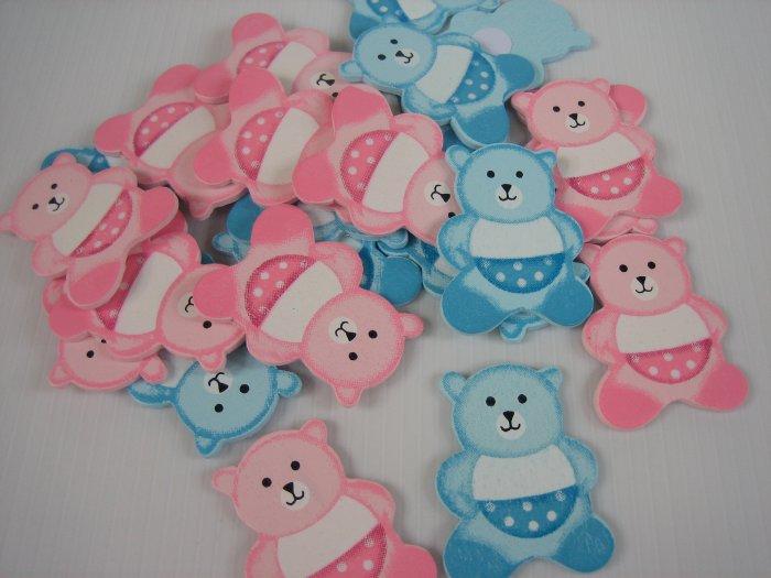 50 Teddy Bear in Diaper Wooden Sticker
