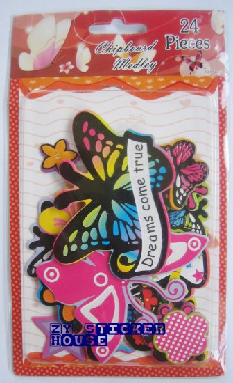 3D Chipboard Sticker Butterfly Theme FREE SHIPPING + BUY ANY 2 FREE 1
