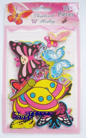 3D Chipboard Sticker Butterfly Theme