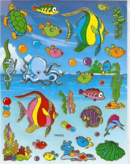 5 sheets Sea Animal Sticker #TM0302