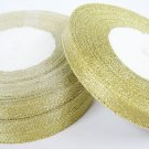 22 meters or 1 roll of 10mm Metallic Gold Lame Ribbon