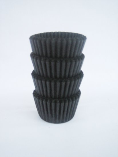 200pcs Mini Paper Cake Cup Black