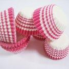 Bulk 1000pcs Mini Paper Cakecups Pink Swirl Line