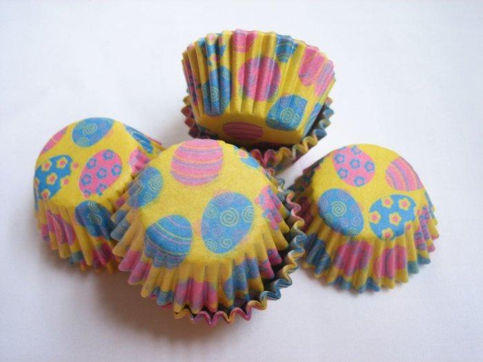200pcs Mini Paper Cake Cup Easter Eggs Print