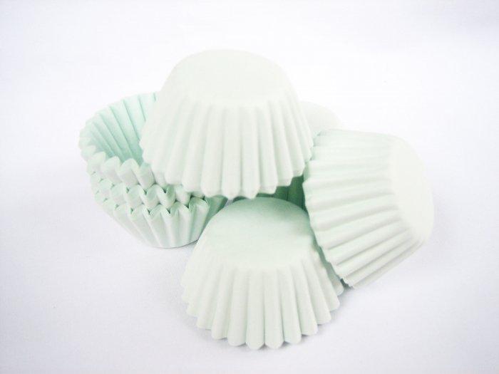200pcs Mini Paper Cakecups Baby Green