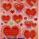 10 sheets BL065 Heart Shape Love Sticker for Scrapbooking